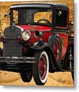 1931 Ford Model A Fire Truck Metal Print
