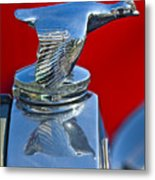 1931 Ford Model A Quail Hood Ornament Metal Print