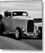 1932 Ford Coupe 'black And White' Metal Print
