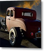1932 Ford Five Window Coupe 'leaving Town' Metal Print