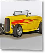 1932 Ford 'flame Game' Roadster Metal Print