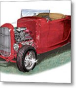 1932 Ford Hi-boy Hot Rod Metal Print