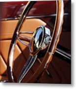 1932 Ford Hot Rod Steering Wheel 2 Metal Print