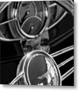 1932 Ford Hot Rod Steering Wheel 4 Metal Print