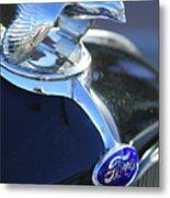 1932 Ford Quail Hood Ornament Metal Print