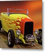 1932 Ford 'sunset' Studio' Roadster Metal Print