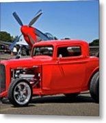 1932 Ford 'three Window' Coupe Vx Metal Print