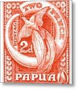 1932 Papua New Guinea Bird Of Paradise Postage Stamp Metal Print
