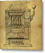 1932 Slot Machine Patent Metal Print