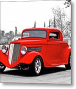 1933 Ford 'three Window' Coupe I Metal Print