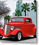1933 Ford 'three Window' Coupe II Metal Print