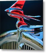 1933 Franklin Olympic Hood Ornament Metal Print