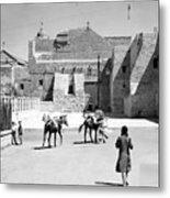 1934 And 1939 Bethlehem Nativity Church  Metal Print