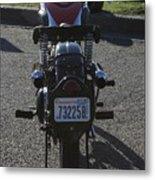 1934 Ariel Motorcycle Rear View Metal Print