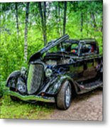1934 Ford 3 Window Coupe Metal Print