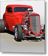 1934 Ford 'mean And Nasty' Coupe Metal Print