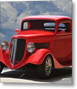 1934 Ford 'sherrys Cherry' Coupe Metal Print
