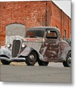 1934 Ford 'survivor' Coupe Metal Print
