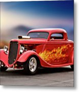 1934 Ford 'three Window' Coupe I Metal Print
