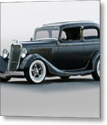 1934 Ford 'victoria' Coupe Metal Print