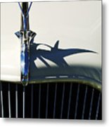 1934 Terraplane Coupe Hood Ornament Metal Print