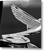 1935 Chevrolet Hood Ornament 4 Metal Print