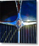 1935 Chrysler Hood Ornament 2 Metal Print by Jill Reger