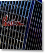1935 Pontiac 2 Door Sedan Grill Logo Metal Print