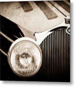 1936 Bugatti Type 57s Corsica Tourer Grille Emblem -1673s Metal Print