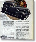 1936 Buick Century Classic Ad Metal Print