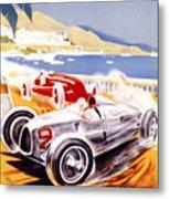 1936 F1 Monaco Grand Prix  Metal Print by Georgia Fowler