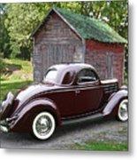 1936 Ford 3-window Metal Print