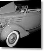 1936 Ford Rumble Seat Cabriolet  Metal Print
