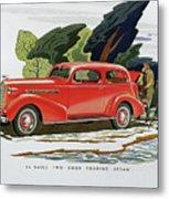 1936 La Salle Two Door Touring Sedan Metal Print
