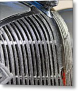 1936 Oldsmobile Hood Ornament Metal Print