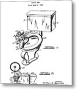 1936 Toilet Bowl Patent Metal Print
