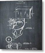 1936 Toilet Bowl Patent Chalk Metal Print