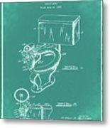 1936 Toilet Bowl Patent Green Metal Print