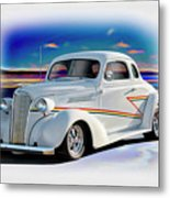 1937 Chevrolet Coupe 'accent Graphics' Metal Print