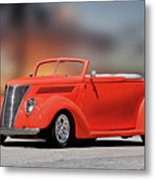 1937 Ford Cabriolet 'old School Vibe II Metal Print