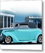 1937 Ford 'classic' Cabriolet Metal Print