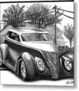 1937 Ford Sedan Metal Print by Peter Piatt