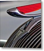 1937 Hudson Terraplane Sedan Hood Ornament Metal Print