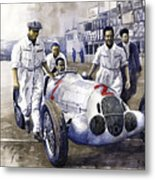 1937 Italian Gp Mercedes Benz W125 Rudolf Caracciola Metal Print