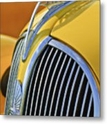 1937 Plymouth Hood Ornament 2 Metal Print