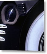 1938 Cadillac Limo Wheel Well Reflections Metal Print