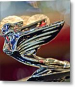 1938 Cadillac V-16 Sedan Hood Ornament Metal Print