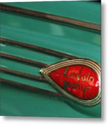 1938 Lincoln Zephyr Convertible Sedan Emblem Metal Print