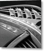 1938 Plymouth Hood Ornament 2 Metal Print by Jill Reger