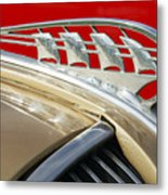 1938 Plymouth Hood Ornament Metal Print